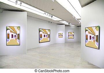galerie art, 3., tout, images mur, juste, filtré, entier, ceci, photo