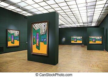 galerie art, 6., tout, images mur, juste, filtré, entier, ceci, photo