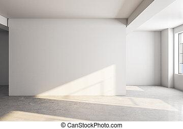 galerie, moderne, intérieur