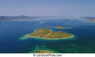 Galesnjak island aerial