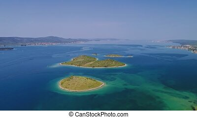 Galesnjak island aerial - Aerial view of the Galesnjak...