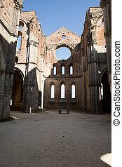 galgano, italien, san, abbotskloster, toskana