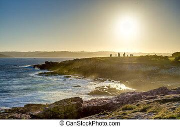 galicia, parque, coruna, españa, menhirs