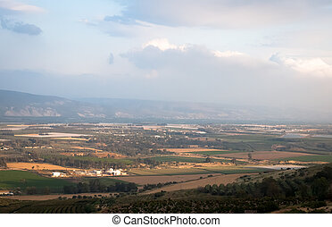 galilee, イスラエル, 光景, 谷