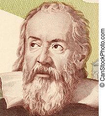 Galileo Galilei - Galileo on 2000 Lire 1983 banknote from...