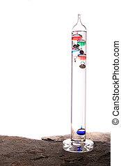 Galileo thermometer - Isolated galileo thermometer
