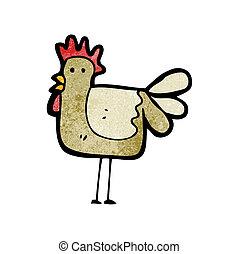 galinha, caricatura