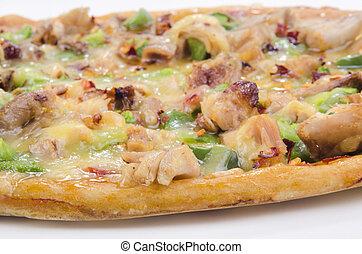 galinha, pizza, carne, páprica