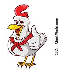 galinha, polegar