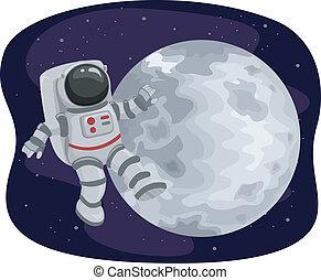 galleggiante, astronauta, spazio