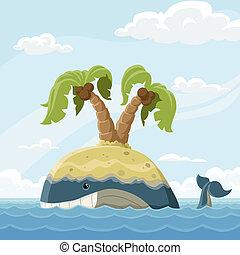 galleggiante, isola