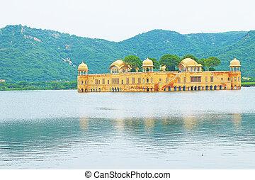 galleggiante, palazzo, jaipur