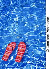 galleggiante, scarpe