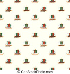 Galleon pattern seamless vector repeat for any web design