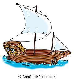 galleon ship - illustration classic, galleon ship
