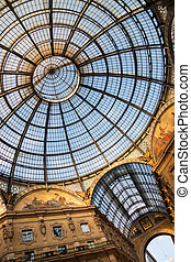 Galleria Vittorio Emanuele II, Milan, Italy - The world's most elegant glass-domed covered arcade.