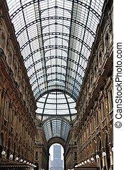 Galleria Vittorio Emanuele II, Italy at Midday