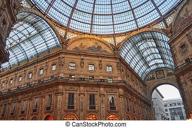 Galleria Vittorio Emanuele II in Milan Italy