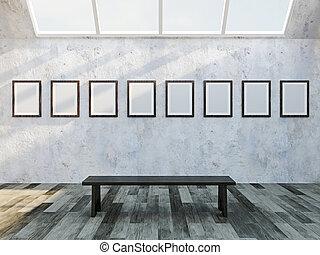 galleria, vuoto, immagini