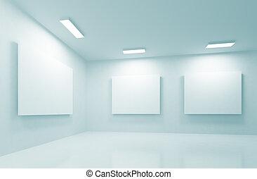 Gallery  - 3d Illustration of Modern Gallery