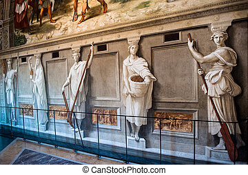 Gallery at the Vatican Museum in Rome, Italy
