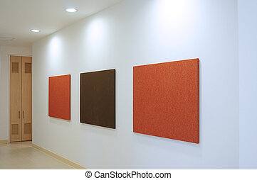 Gallery - Canvas in a galley on a wall