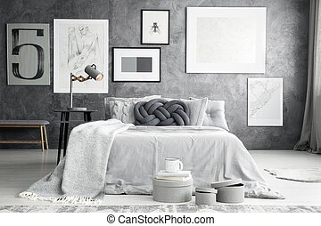 Gallery in bedroom interior