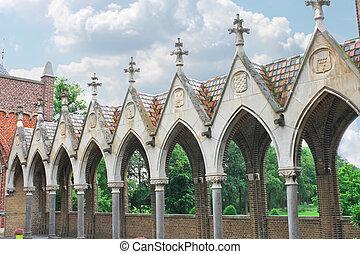 Gallery in the castle Heeswijk. Netherlands
