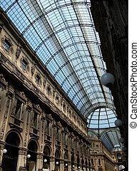 Gallery Vittorio Emanuele II in Milan - Looking up in the ...
