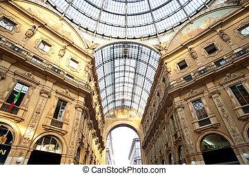 Gallery Vittorio Emanuele II in Milan, Italy