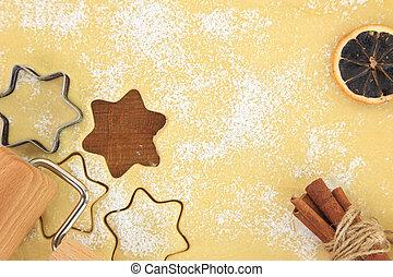 galleta, galletas, cortador, estrella, elaboración