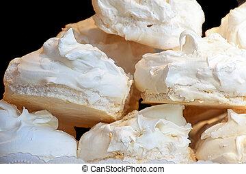 galleta, pila, merengue