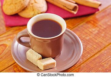 galletas, con, café
