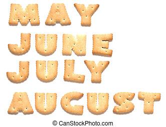 galletas, junio, julio, poder, agosto, hecho, meses, año