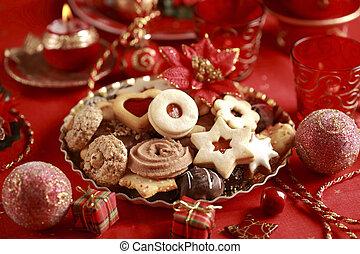 galletas, navidad, delicioso