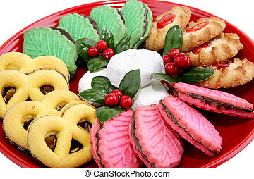 galletas, primer plano, navidad