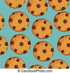 galletas, seamless, plano de fondo