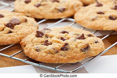 galletas, trocito de chocolate