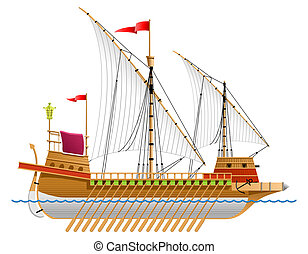 galley - illustration of a galley.