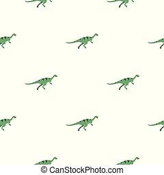 Gallimimus dinosaur pattern seamless