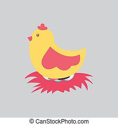 gallina, disegno