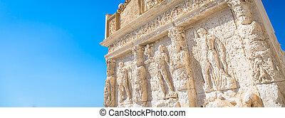 gallipoli, italien, -, griechischer , brunnen, 3., jahrhundert, bc
