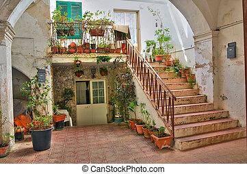 gallipoli., italy., house., 歴史的, puglia.