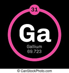 Gallium Element Atom Structure And Properties Including Eps