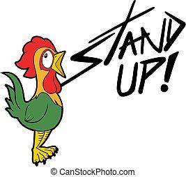 gallo, e, alzati, messaggio