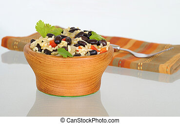Gallo pinto, or spotted rooster, is a traditional Costa Rica rice and bean dish.