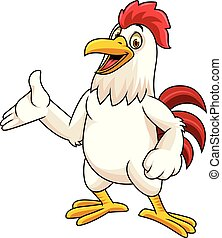 gallo, presentación, caricatura