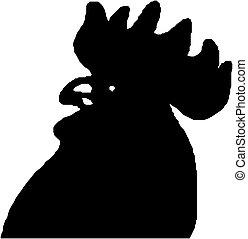 gallo, silueta