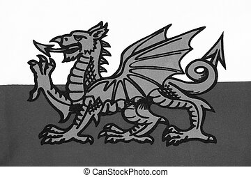 gallois, dragon, ddraig, galles, goch, drapeau, royaume-uni, rouges, projection, national, connu, y, (the, baron)