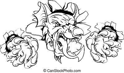 gallois, percer, dragon